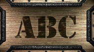 Stock Video Footage of abc on wooden stamp