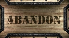 abandon on wooden stamp - stock footage