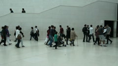 Visitors in the British Museum - stock footage