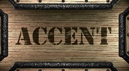 Stock Video Footage of accent on wooden stamp