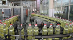 Sunflower oil factory Stock Footage