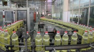Stock Video Footage of Sunflower oil factory