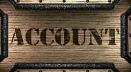 Account on wooden stamp Stock Footage