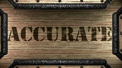 accurate on wooden stamp - stock footage