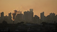 Air Pollution 2 - City View  - Global Warming. - stock footage
