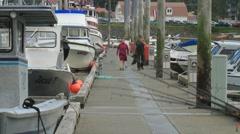 Women fishermen, poles, gear, Stock Footage