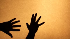 Silhouette hand Stock Footage