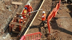 Construction Workers - stock footage