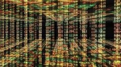 3d number background with stock market tickers Stock Footage