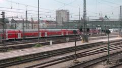 Munich Trains Arriving Stock Footage