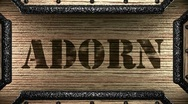 Stock Video Footage of adorn on wooden stamp