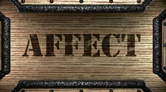 affect on wooden stamp - stock footage