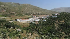 Stock Video Footage of Andalucia road and distant village