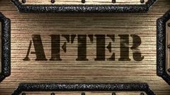 After on wooden stamp Stock Footage