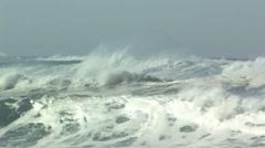 High surf, Asilomar Stock Footage