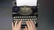 Old typewriter Stock Footage
