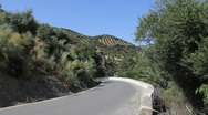 Andalusia mountain road Stock Footage