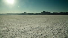Salt Flats Sunset Stock Footage