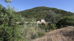 Andalucia house by road Stock Footage