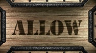 Allow on wooden stamp Stock Footage