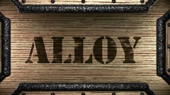 Alloy on wooden stamp Stock Footage