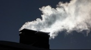 Scandinavia Finland steam smoke from Chimney Stock Footage