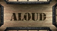 Aloud on wooden stamp Stock Footage
