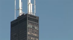Willis Tower In Chicago Illinois Stock Footage