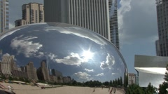 Stock Video Footage of Millenium Park Bean in Chicago, Illinois