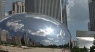 Stock Video Footage of Millenium Park Bean in Chicago, Illinois