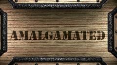 Amalgamated on wooden stamp Stock Footage
