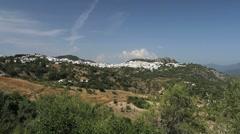 Andalucia Gaucin village on a ridge Stock Footage