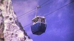 People Mover Matterhorn Disneyland Circa 1965 (Vintage 8mm Home Movie) 457 Stock Footage