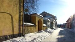 Scandinavia Finland Rauma old town Townhall Stock Footage