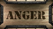 Anger on wooden stamp Stock Footage