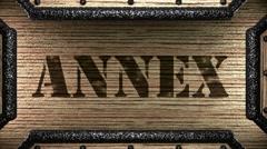 Annex on wooden stamp Stock Footage