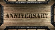 Anniversary on wooden stamp Stock Footage