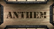 Anthem on wooden stamp Stock Footage