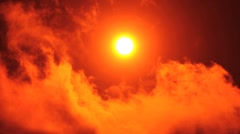 Sunrise - Red Sun Stock Footage