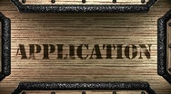 Application on wooden stamp Stock Footage