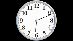 Analog Clock, Fancy Face, Looping Through the Passage of Time Stock Footage