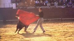 BULLFIGHT MATADOR Fights Bull 1975 (Vintage Film Old Home Movie Footage) 473 Stock Footage