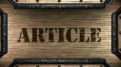 article on wooden stamp - stock footage