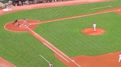 Batter Gets Base Hit 02 Stock Footage