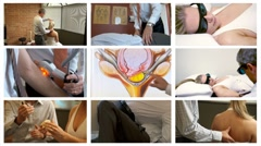 Chiropractic collage Stock Footage