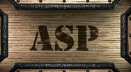 Stock Video Footage of asp on wooden stamp