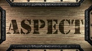 Aspect on wooden stamp Stock Footage