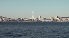Seattle Space Needle and Ferry Stock Footage