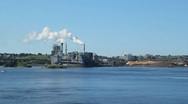 Pulp and Paper mill. Stock Footage