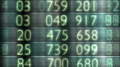 Share prices on stock exchange board Stock Footage